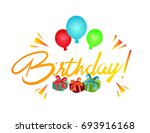 birthday party background | Shutterstock .eps vector #693916168