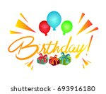 birthday party background | Shutterstock .eps vector #693916180