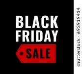 black friday vector banner | Shutterstock .eps vector #693919414