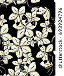 seamless flower pattern of...   Shutterstock .eps vector #693924796
