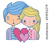 beauty couple together with...   Shutterstock .eps vector #693931279