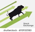 bull stock concept raising up.... | Shutterstock .eps vector #693933583