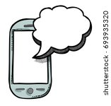 cartoon image of message icon.... | Shutterstock .eps vector #693935320