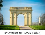 entrance to stowe gardens near... | Shutterstock . vector #693941014