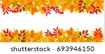 panorama fall autumn colorful... | Shutterstock .eps vector #693946150