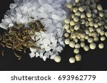 sea salt  white pepper and... | Shutterstock . vector #693962779