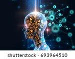 abstract illustration... | Shutterstock . vector #693964510