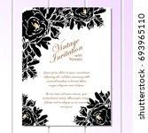 vintage delicate invitation... | Shutterstock .eps vector #693965110