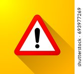 illustration of warning sign on ... | Shutterstock .eps vector #693977269