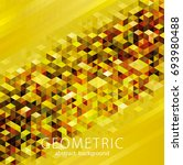 geometric shapes golden texture ... | Shutterstock .eps vector #693980488