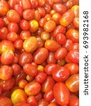 Small photo of Cherry tomato is a rounded and small fruited tomato though to be ab intermidiate genetic admixture between wild currant type tomatoes and domesticated.