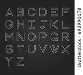 modern linear uppercase... | Shutterstock .eps vector #693990178