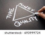 hand draw a triangle of time ... | Shutterstock . vector #693999724