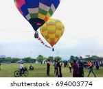putrajaya  malaysia   august 11 ... | Shutterstock . vector #694003774