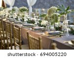 wedding setup | Shutterstock . vector #694005220