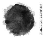 watercolor black spot on a... | Shutterstock . vector #694005370