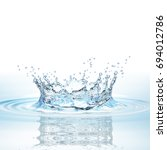 water splash in dark blue color ... | Shutterstock . vector #694012786