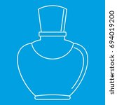 glass bottle with perfume icon... | Shutterstock .eps vector #694019200