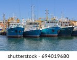 Fishing Boats In The Harbour  ...