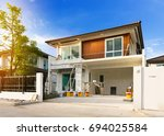 exterior view of new house... | Shutterstock . vector #694025584