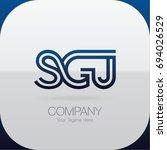 logo letter combinations s  g... | Shutterstock .eps vector #694026529