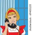 girl talking on phone | Shutterstock . vector #69403135