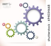 colored gear wheels showing... | Shutterstock .eps vector #694034668