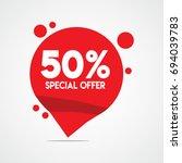 50  special offer discount... | Shutterstock .eps vector #694039783