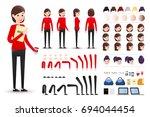 female clerk character creation ... | Shutterstock .eps vector #694044454