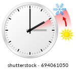 vector illustration of a clock... | Shutterstock .eps vector #694061050