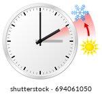 vector illustration of a clock... | Shutterstock .eps vector #694061050