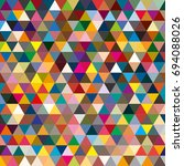 abstract geometric colorful... | Shutterstock .eps vector #694088026