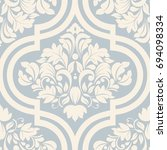 seamless damask wallpaper in... | Shutterstock .eps vector #694098334