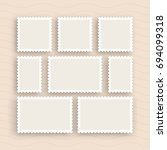 a set of postage stamps vintage ... | Shutterstock .eps vector #694099318