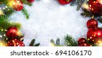 christmas holiday background | Shutterstock . vector #694106170