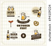 beer logo vintage isolated... | Shutterstock .eps vector #694109224