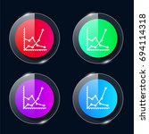 graph four color glass button...