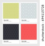 seamless vector pattern... | Shutterstock .eps vector #694115728
