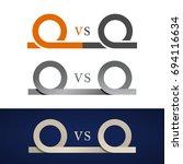 anything vs something symbol... | Shutterstock .eps vector #694116634