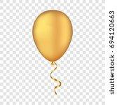 gold bunche balloons on a... | Shutterstock . vector #694120663