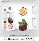 packaging passion fruit... | Shutterstock .eps vector #694122958