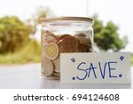 save money concept  to be rich... | Shutterstock . vector #694124608