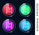 machine four color glass button ...