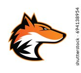 fox head mascot | Shutterstock .eps vector #694138954