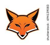 fox head mascot | Shutterstock .eps vector #694139083