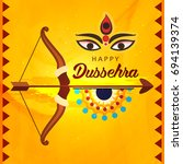 shubh dussehra wallpaper design ... | Shutterstock .eps vector #694139374