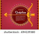 shubh dussehra  vector... | Shutterstock .eps vector #694139380