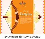 shubh dussehra wallpaper design ...   Shutterstock .eps vector #694139389