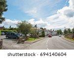 eardisland village and main... | Shutterstock . vector #694140604