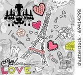 Love In Paris Doodles